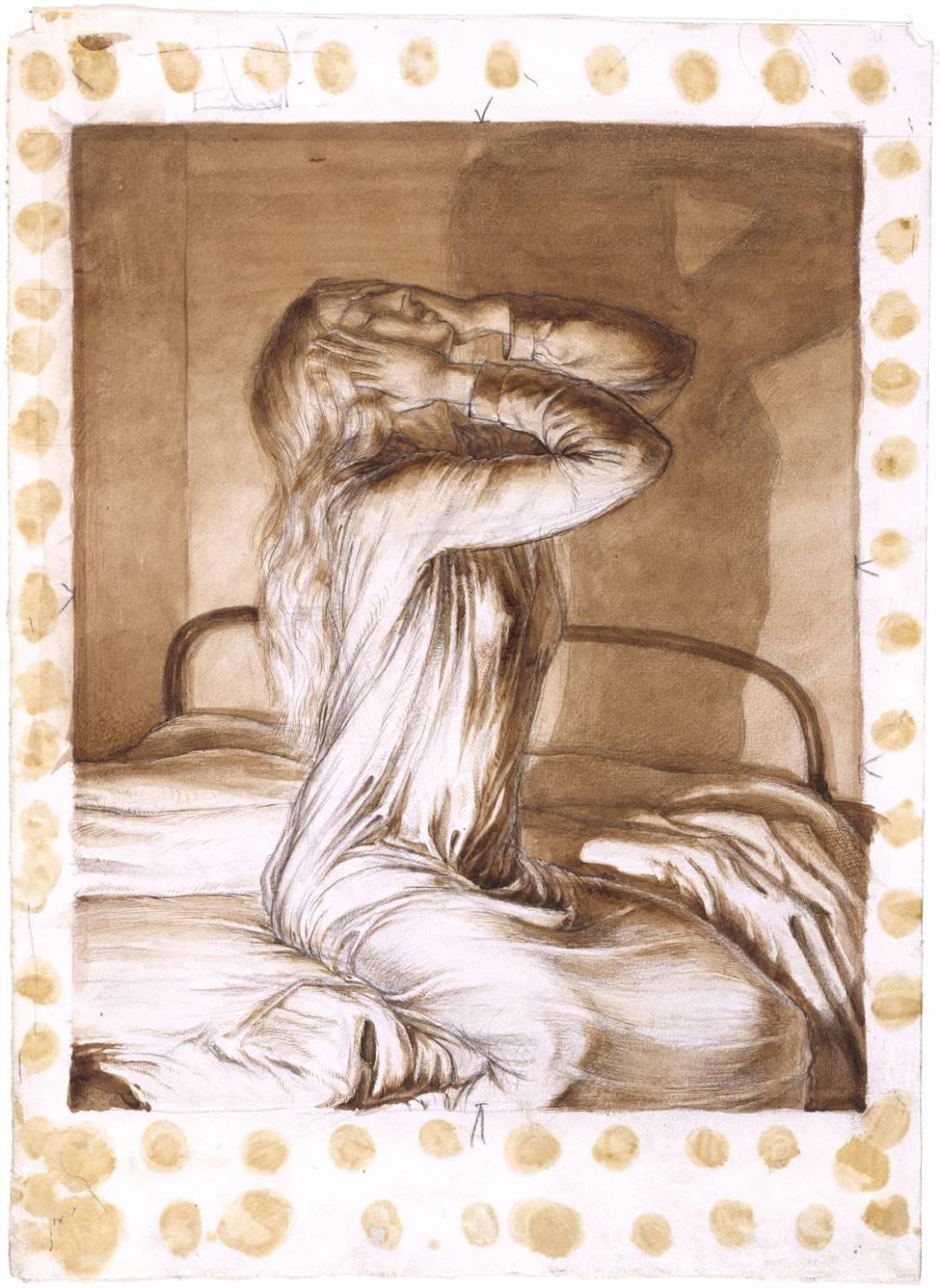 Study of a Girl c.1910 by Maxwell Gordon Lightfoot 1886-1911