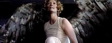 As archangel Gabriel in the crappy/fun flick, Constantine