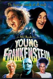 1974, Directed by Mel Brooks, starring Gene Wilder, Madeline Kahn, Marty Feldman, Peter Boyle.