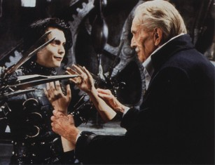 Vincent Price and Johnny Depp