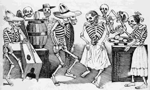 Mexican artist Jose Guadalupe Posada, Day of the Dead