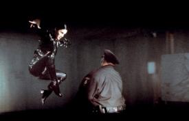The Matrix (1999) Trinity kicks ass
