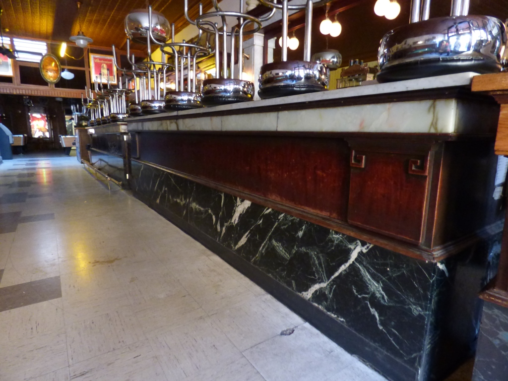 Marble top soda fountain and bar
