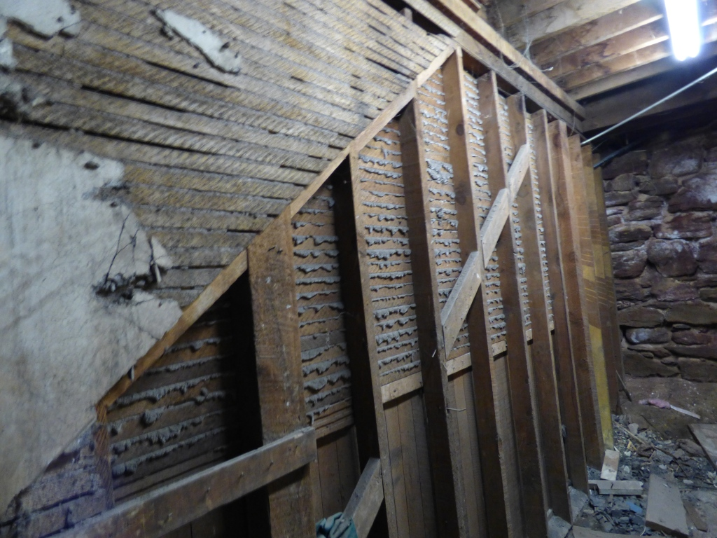Once there was a staircase leading to the front exterior of the saloon.