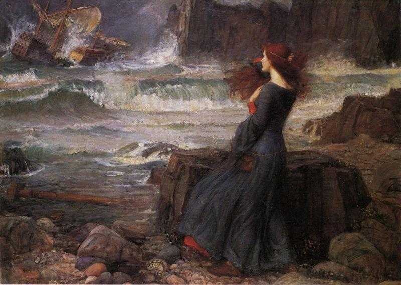 J.W. Waterhouse  Miranda, The Tempest, 1916
