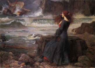 J.W. Waterhouse  Miranda, The Tempest, 1916