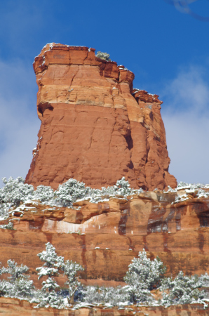 Snow in Sedona