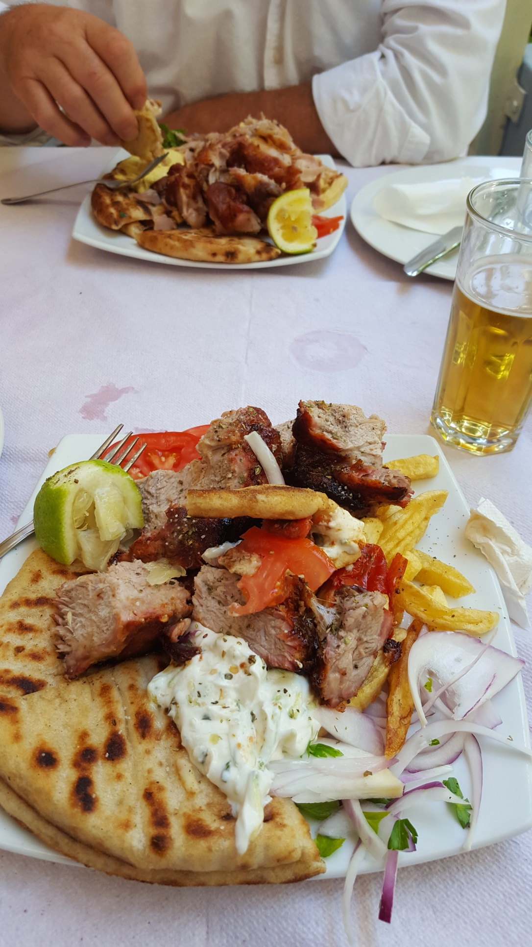 Lunch--I love gyros, don't you?