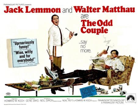 The Neil Simon play establishing a life long friendship and several films with Walter Matthau.