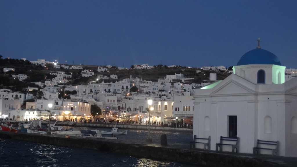 7. Mykonos at night