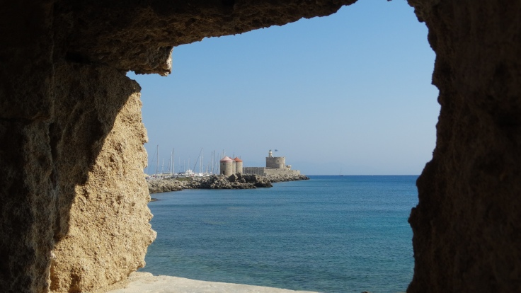 8. Rhodes Fortress in the Harbor