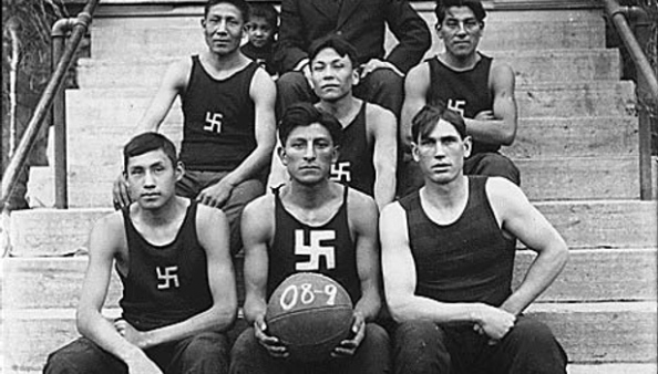 The Chilocco Indian Agricultural School basketball team in 1909