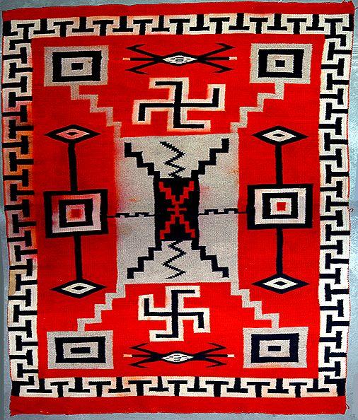 swastika-symbol-navajo-woven-blanket