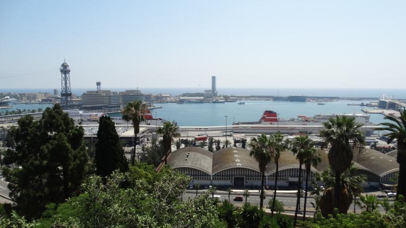 Tibidabo looking down to Barcelona
