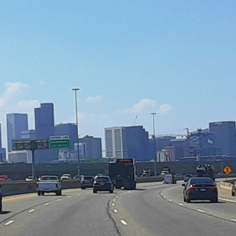 Driving through Denver
